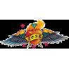 Сердце Love Брильянт Огонь Крылья