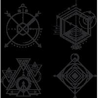 Набор Геометрический Рисунок Чертеж Геометрия