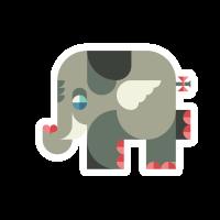 Влюбленный слоненок