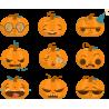 Набор наклеек Тыквы На Хэллоуин