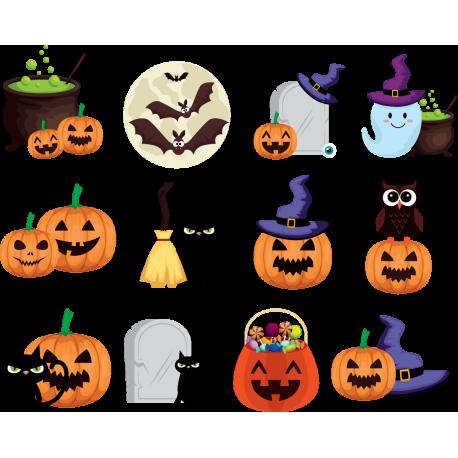 Набор наклеек Хэллоуин