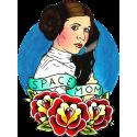 Принцесса Лея Космическая Мама из Звёздных Войн Тату Стиль