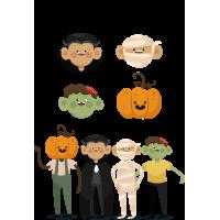 """Персонажи """"Монстры На Хэллоуин"""""""
